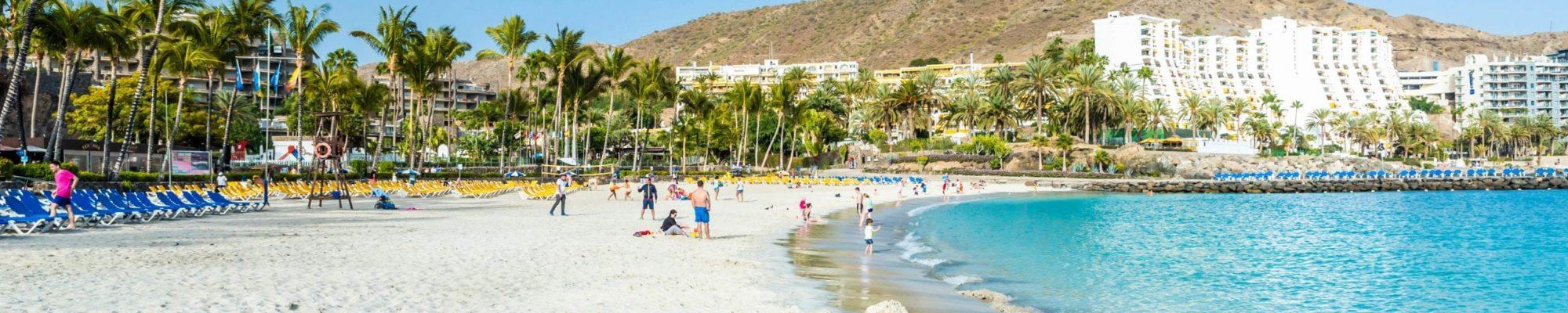 White Anfi beach on island Gran Canaria, Spain